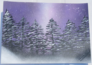 Pine Forest spray paint art ucuetis
