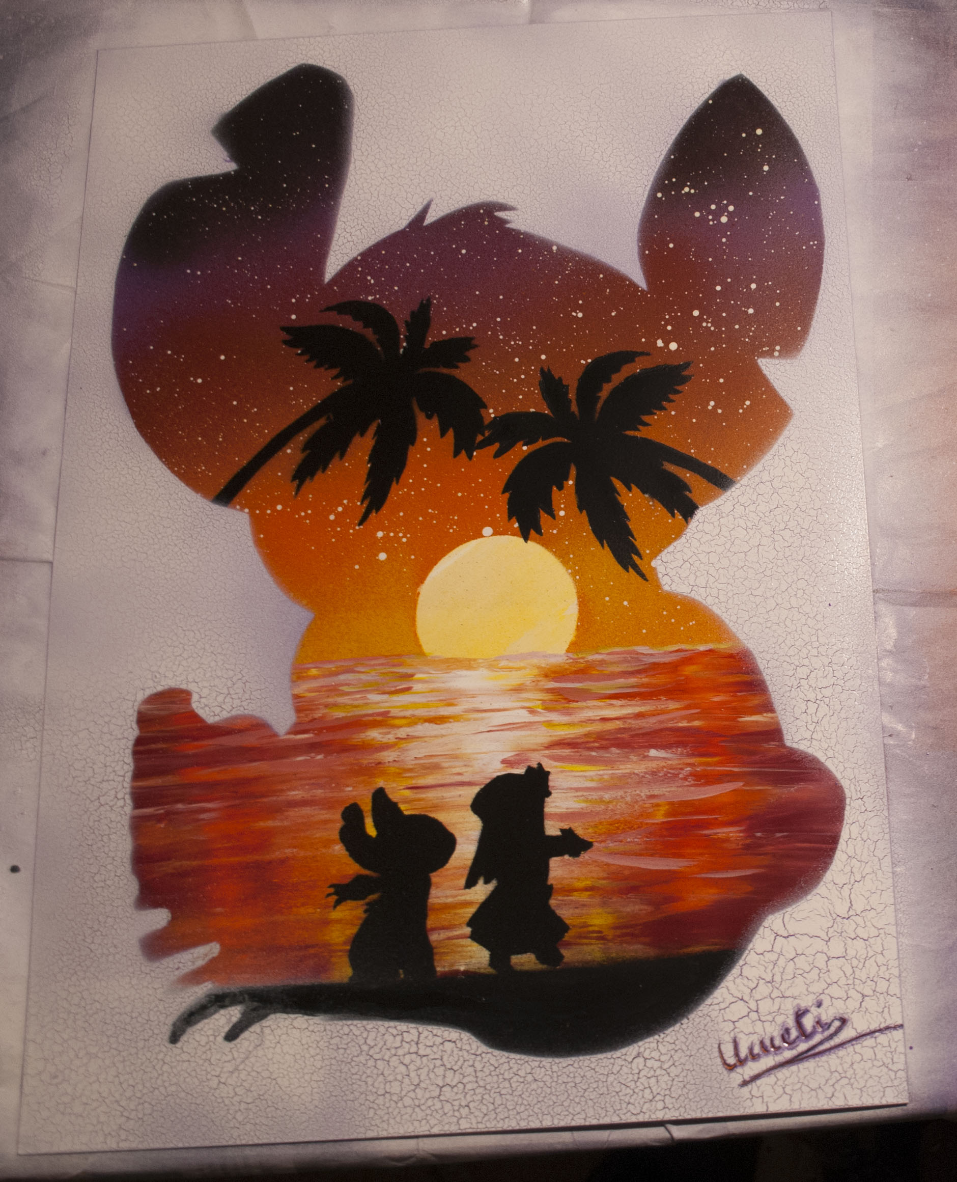 Lilo & Stitch Spray paint art by Ucuetis