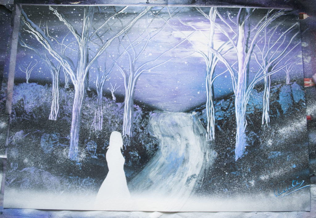 Forêt spray paint art