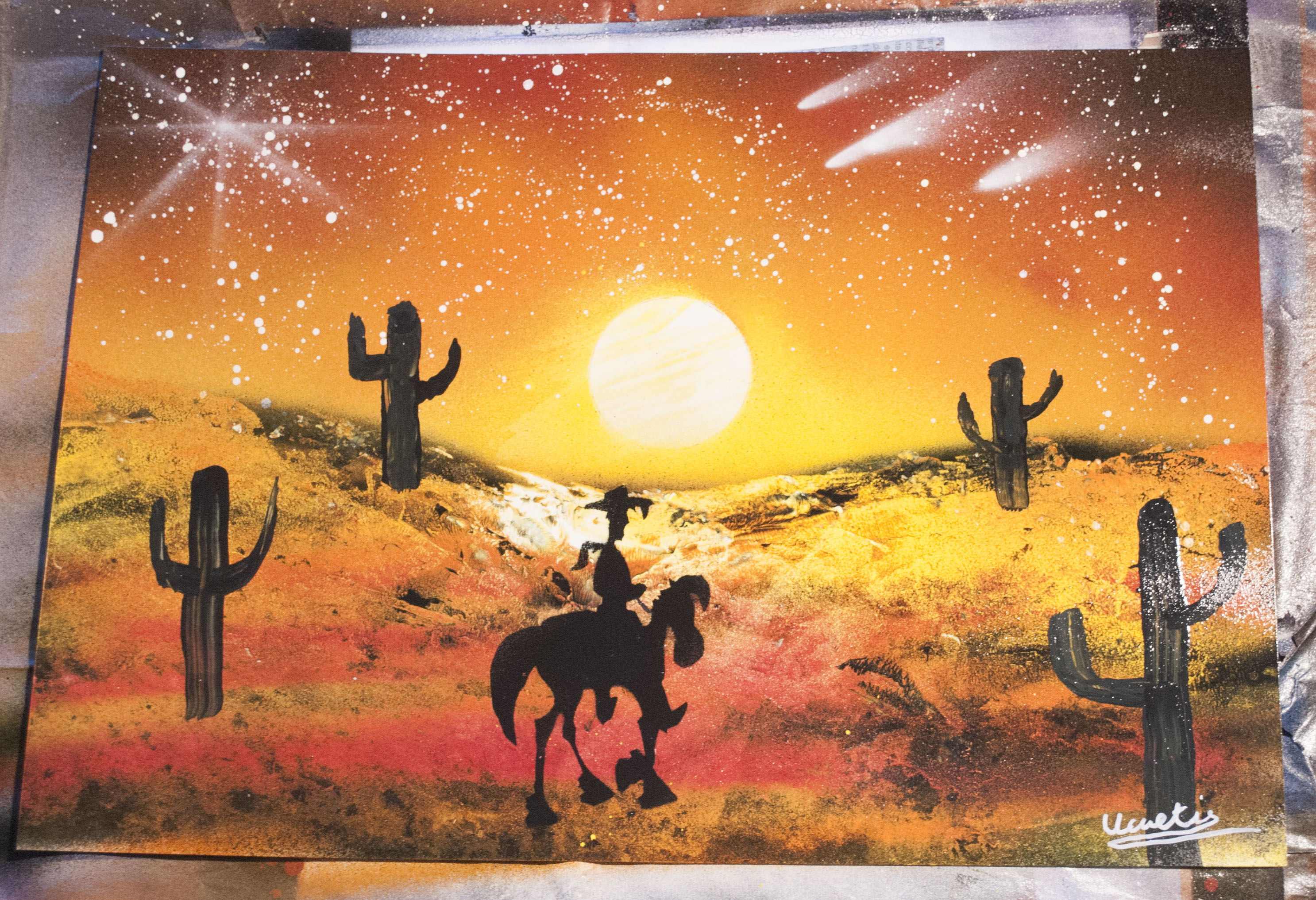 Lucky luke spray paint art by Ucuetis