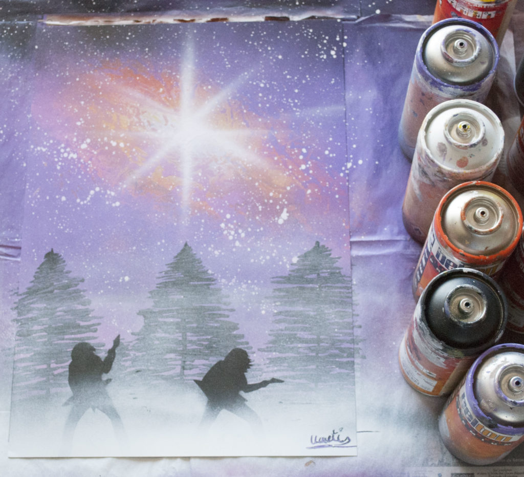 Metalhead spray paint art