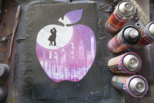 Love spray paint art by Ucuetis
