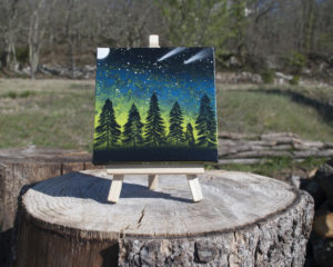 forest spray paint art by Ucuetis
