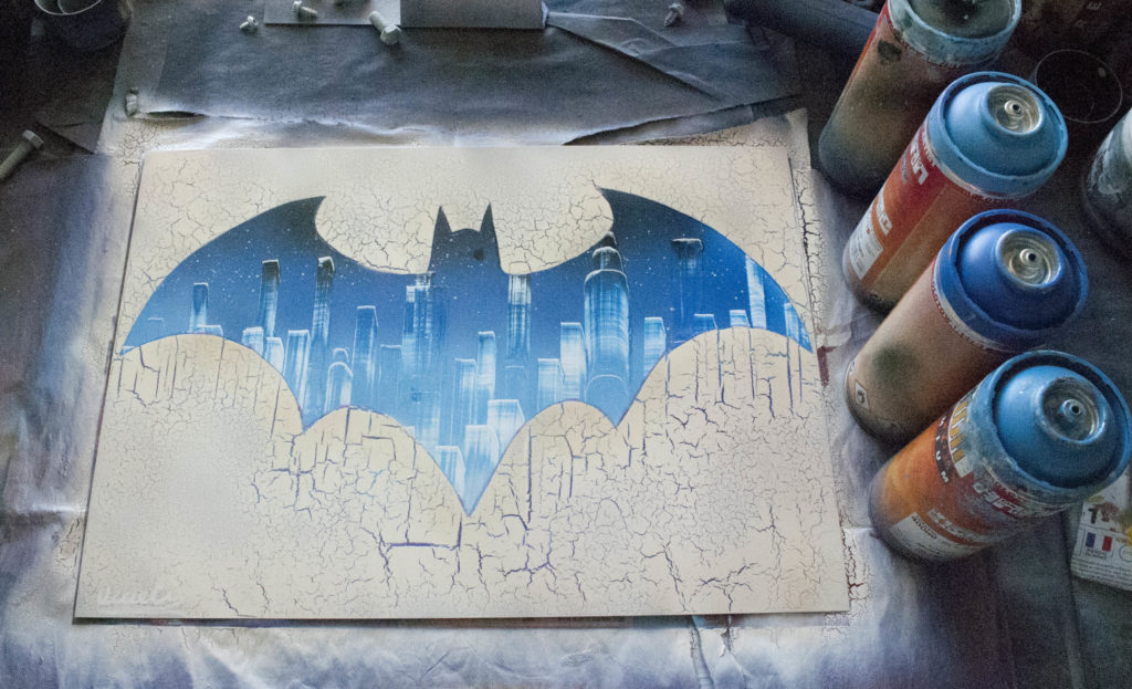 Batman Spray Paint Art by Ucuetis