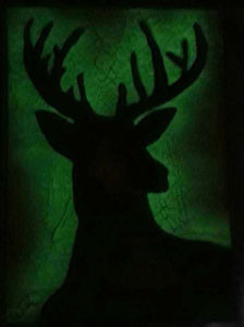 Cerf Spray paint art par Ucuetis