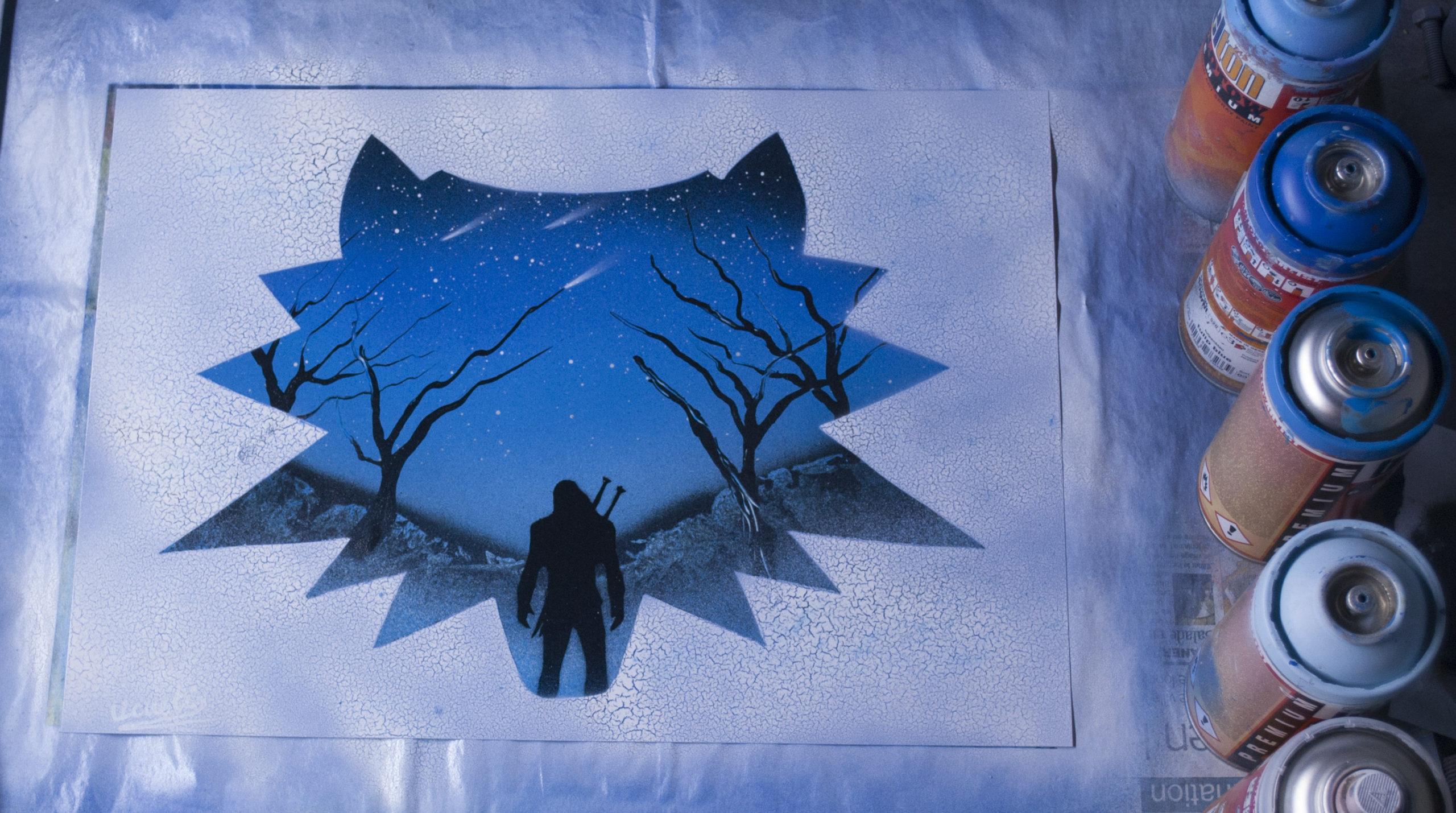 The witcher - Spray paint art by Ucuetis