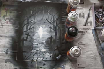 The soul of the cemetery- Spray paint art by Ucuetis